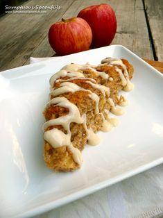 Apple Cinnamon Scones with Maple Drizzle