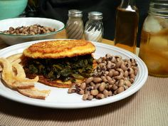 Taste of Southern ~ The Collard Sandwich!  Perfect for New Year's Day served with black-eyed peas.