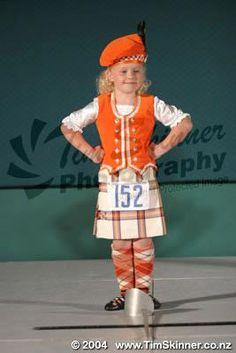 Kilt with orange vest #Young #Other #Tartan