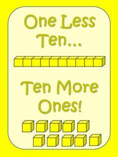 Elementary Matters: One Less Ten, Ten More Ones