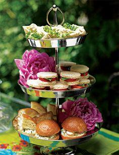 tomato tea party sandwiches