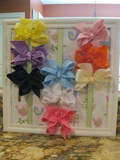 hairbow, craft, girl, stuff, turtl life, babi, hair bows, gift idea, diy