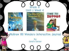 This 5th grade interactive journal is aligned to Common Core and to the McGraw Hill Wonders series for Unit 1-Week 4. This highly INTERACTIVE journal is ideal for teaching all of this week's skills in a powerful, student-friendly way!