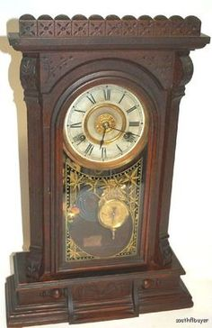 New Haven Clock Co. 8 DAY No. 512 Mantel Clock NR