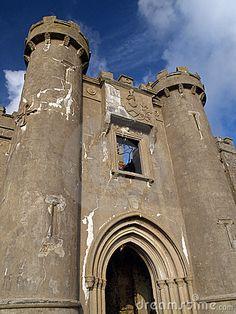 Gate of the castle ruin near Clifden, Connemara, Ireland
