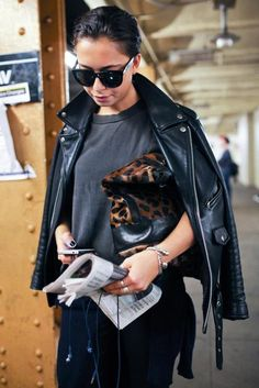 Street style snaps from the subway