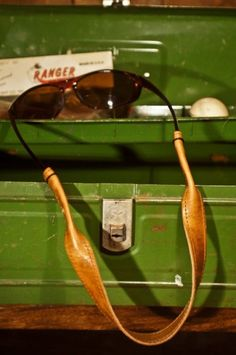 Leather Sunglass Straps, Rugged Croakies for Sunglasses by Buffalo Jackson Trading Co