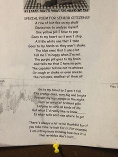 Senior Center poetry