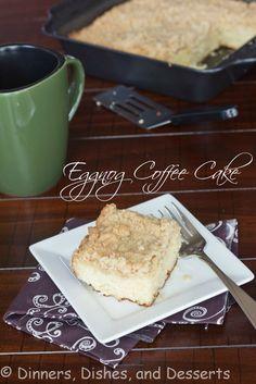 Eggnog Coffee Cake @Dinnersdishesdessert