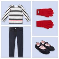 Kids' fall trends: Girls casual Parisian outfit
