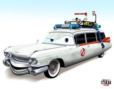 Ecto-1: 7 Famous Movie Cars Redone As Pixar Characters