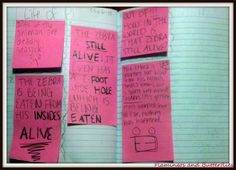 reading workshop: reader's notebooks responses, think marks