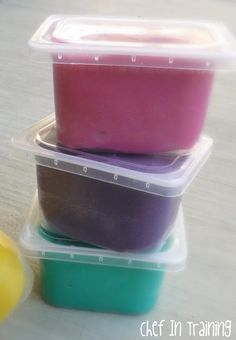 homemad playdough, plastic bags, food containers, dough recipes, food coloring, baby foods, playdough recip, storage ideas, kid