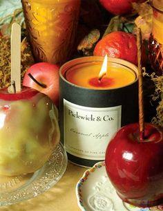 PICKWICK ARTISAN CANDLES, Sugarhouse Maple, Sleigh ride, Fireside Embers, caramel apple, orange clove, Victorian Trading Co.