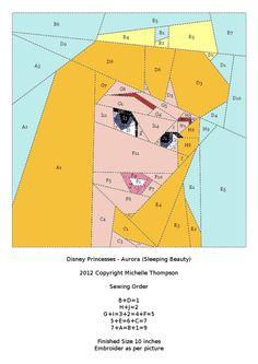 Disney Princess Quilt - Aurora pattern