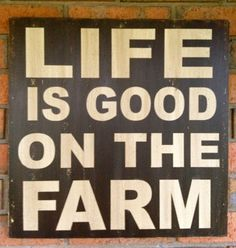 Country Home Decor Life is Good on the Farm