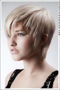 I wonder if this can work with two more inches pixie cuts, blond pixi, trendy hairstyles, short hairstyles, hair style, pixi cut, light blond, bang, trendi light