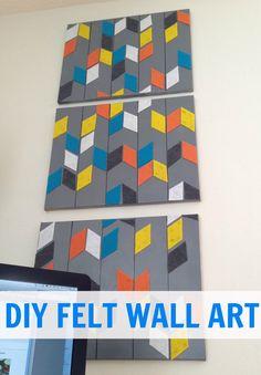 DIY felt wall art