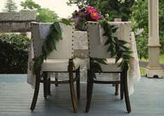 Vintage Garden Wedding Chair Decor (An Epiphany Photography)  #vintagewedding #gardenwedding #weddingdecor