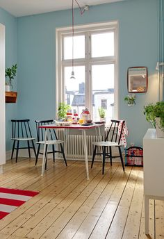 #hardwood #blue #kitchen