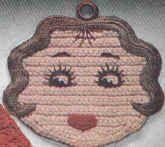 Betty Boop Pot Holder - free crochet pattern