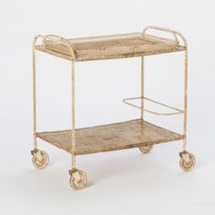 Terrain French Metal Bar Cart