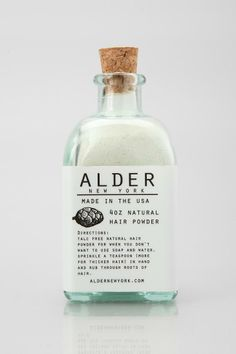 Handmade in small batches in Brooklyn, this all-natural hair powder from Alder New York refreshes your hair between washes. Perfect for zapping grease, pumping up volume and making you smell great, it works. for both men and women. #urbanoutfitters