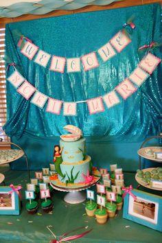Mermaid theme baby shower