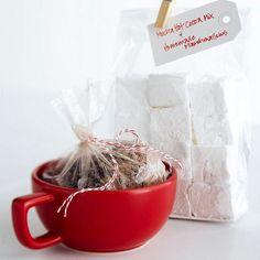 Mocha Hot Cocoa Mix & Homemade marshmallows.