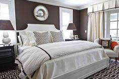 wall colors, rug, dark walls, white bedrooms, master bedrooms