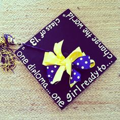 Graduation cap shared by @megtoconnor! #MgoGrad