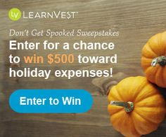 Learnvest $$ Enter to Win $500 in the Don't Get Spooked Sweepstakes!