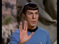 Vulcan salute: live long and prosper