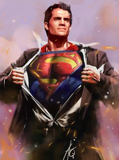fan art, art illustrations, superman, comic, digital art, henry cavill, man of steel, artwork, manofsteel