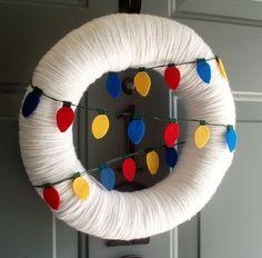idea - yarn wreath