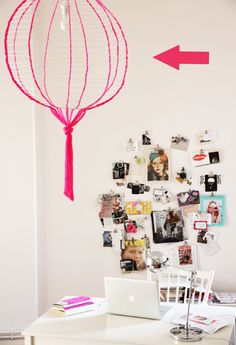 ikea paper lantern do-over.   something about this is cool.     maybe it's resemblance   of a hot air balloon.