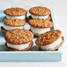 Oatmeal Cookies Ice Cream Sandwiches