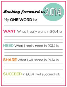 Printable New Year's Resolutions for YOU from www.thirtyhandmadedays.com