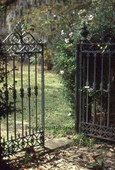 Iron gates - I so want these and the fence to go with them....all around the front yard....mmmmmm