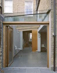 Courtyard garden ideas on pinterest courtyard gardens for Terrace kitchen extension