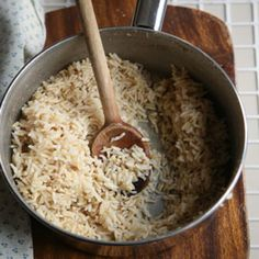 Perfect Brown Rice Recipe | SAVEUR - This REALLY WORKED! My brown rice always turns outmushy and this time it was perfect :)