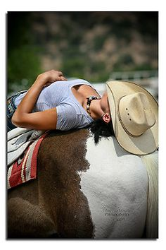 ❤ Cowgirl resting after a ride