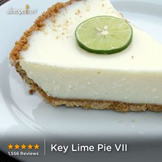 """Key Lime Pie   """"10 out of 10! Can't be easier than this and can't be more delicious than this. Thanks for sharing!"""" health food, keys, key lime pue, key lime pie, easier, pies, limes, food photo"""