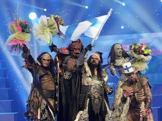 Eurovision Song Contest Winners of 2006 - Lordi with Hardrock hallelujah for Finland!