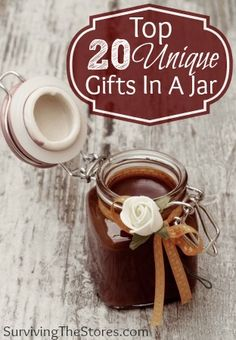 The top 20 best gift in a jar ideas for the holidays!! top 20, uniqu gift, christmas craft gift ideas, 20 uniqu, jar idea, 20 gift, jars, christmas in a jar gifts, the holiday