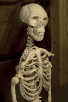 Knitted skeleton. Wow!