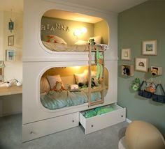 Custom Bunk Beds via Get Decorating