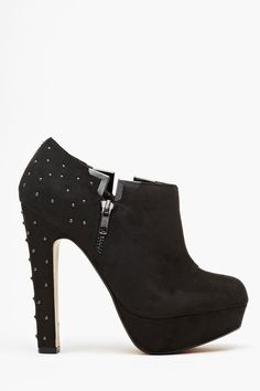 Studded Platform Bootie in Black