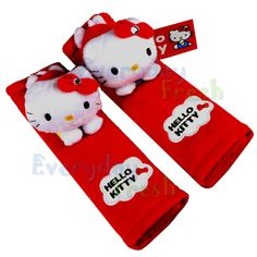 NEW Sanrio Hello Kitty Plush Doll Car Seat Belt Cover Red #D Toy Car Accessory