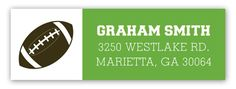 Football Field Address Label